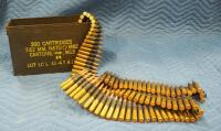 Full Can Of 30-06 M1 Link Belt-Fed Ammunition, Approx 250 Rounds, Local Pickup Only