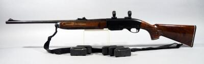 Remington Model 7400 .243 WIN Rifle SN# 8530478, With Nylon Sling, Scope Rings, Scope Mount, And 6 Total Mags