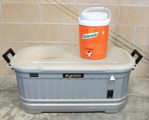 Igloo Party Bar, Cracked Lid, And Rubbermaid Gatorade Cooler, And More