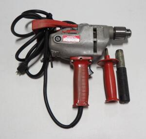 Milwaukee Heavy Duty Corded Drill With Handle, Powers On