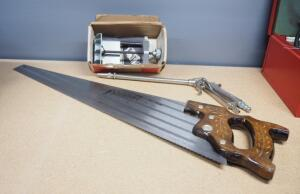 Craftsmen Doweling Jig Model 9-4186 With Instructions, Vinks 140 B Air Nozzle And Wood Hand Saw