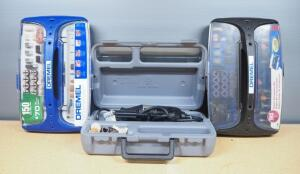 Dremel MultiPro Model 285, Powers On, In Case, With Dremel Accessory Bits In Cases