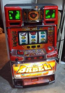 "2002 Eleco Ltd ""Babel"" Pachislo Electronic Slot Machine Model 120399, With Key And Tokens, Powers On"