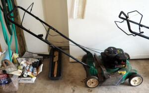 "Weed Eater 20"" Push Mower With Briggs And Stratton 300 Series Gas Motor, Unknown Working Condition"