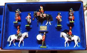 "W Britain ""The Royal Scots Dragoon Guards"" Number 5290, 8 Piece Limited Edition Boxed Set Collector's Models"