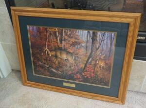"Framed Matted Under Glass ""Sign Of The Time"" Numbered Print By Hayden Lambson, Numbered 1033/3500, 26"" x 34"""