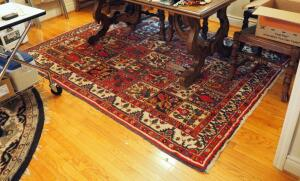 "Antique Woven Wool Rug 71"" x 96"""