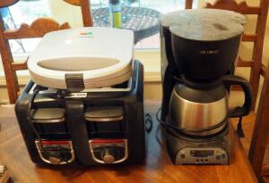 Black and Decker 4 Slice Toaster, Mr. Coffee Coffee Brewer, And Cuisinart Sandwich Grill