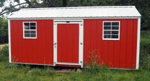 Metal Sided Insulated Garden Shed, 8.5' Tall x 18' Wide X 8' Deep