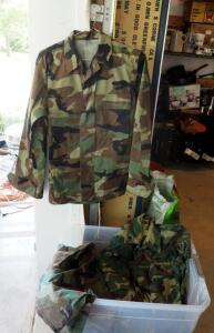 Woodland Camouflage Pattern Fatigue Blouses, Army And Air Force, Sizes Medium To Large, Qty 14