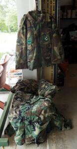 Woodland Camouflage Jackets, Sizes Small (Qty 2) And Medium (Qty 2)