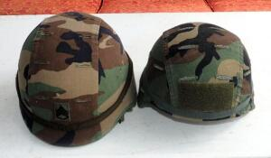 Military Kevlar Helmets With Covers And Accessories QTY 2