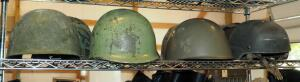 Vintage Military Helmets Various Styles And Ages QTY 4