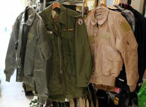Cold Weather And Summer Flier's Jackets Size Large, And An Extreme Cold Weather Parka Size Small