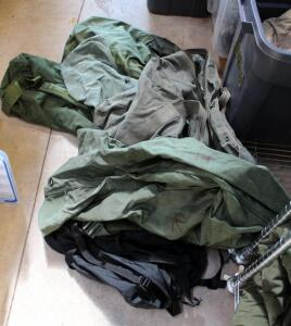 Military Duffel And Laundry Bags Qty 6