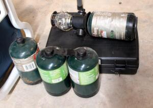 Portable Butane Stove Model GS-3000 New, Propane Gas Camping Bottles, And Lantern Attachment