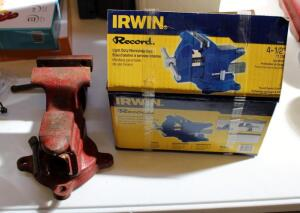 "Craftsman 3.5"" Bench Vice Model Number 506.61801 And Irwin 4.5"" Bench Vice New In Box"