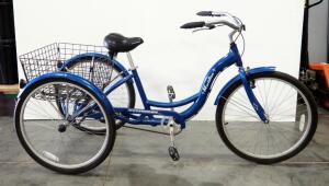 "Schwinn Meridian 26"" Adult Cargo Bike, New Tires, Collapsible Cargo Tray, Approx 350lb Capacity"