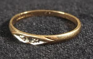 Gold Ring Marked 10k, Size 6