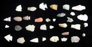 Bird Point Arrowhead Collection, Qty 33