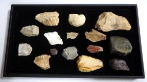 Arrowhead/ Projectile Point/ Stone Axe Collection, Various Sizes, Qty 15