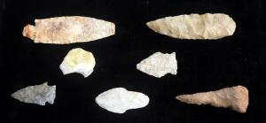 Arrowhead/ Projectile Point Collection, Various Sizes, Qty 7