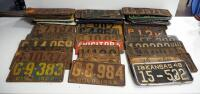 Antique And Vintage Multi-State License Plate Collection, 1910s -1960s, Approx Qty 65
