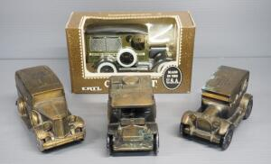 Ertl 1923 Postal Truck Diecast Bank, Banthrico Metal Car Banks, Including 1906 Mac Truck, 1914 Dodge, ???????1934 Ford, Total Qty 4