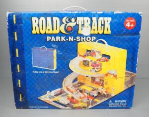 Road & Track Park-N-Shop Diecast Car Playset And Storage, Folds Up Into Carrying Case, No Cars Included