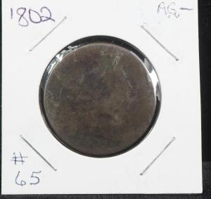 1802 Draped Bust Large Cent: Normal Reverse Early Copper Penny