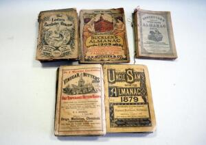 Antique Almanac Collection, Includes Bucklen's, The Lady's Birthday, Ayers, And Illustrated United States