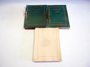 Antique University Of Kansas Morphology Of Plants Collection, Includes 2 Bound Copies And 1 Loose