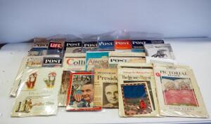 Collection Of Vintage Magazines And Newspapers 1940s-1960s, Includes Life, Post, Collier's, And More