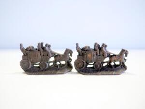 W. H. Howell Co. Horse Drawn Carriage Bookends, Qty 2