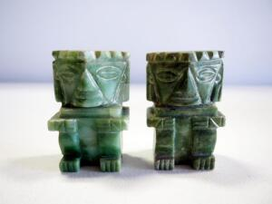 Jade Style Stone Tiki Bookends, Qty 2