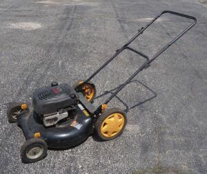 Poulan Pro Lawn Mower Model PR600N21RH With GTS 6.5 HP Engine, Stop And Start Switch Is At Engine, Runs