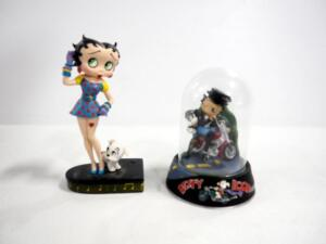 "Danbury Mint Mini ""Betty Sings The Blues"" Collector Edition Porcelain Figurine And Hearst ""Born To Be Boop"" Figurine"