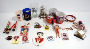 Betty Boop Collectibles, Includes Cups And Mugs, Magnets, Key Chains, Wind Chime, Figures And More