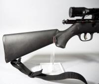 Savage Model 93 .22 WMR Bolt Action Rifle SN# 2001139, With Simmons 4 x 32 Scope And Padded Sling, In Original Box - 12