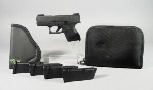 Glock 43 9x19 Pistol SN# ZPB906, 4 Total Mags, With Sticky Holster MD-1 And UTC Conceal Pouch