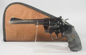 Colt Officer's Model Match .38 Special 6-Shot Revolver SN# 913531, With Pachmayr Grips, In Soft Case