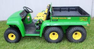 John Deere Gator With Dump Bed, 6' X 4', Hours Showing 600.8, #W006X4X075017, SEE VIDEO