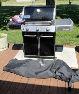 Weber Genesis LP Gas Grill Model Number 54381 With Rotisserie, Grill Pan, And Grill Basket