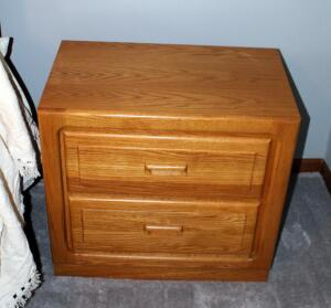 "Stanley Furniture Solid Wood 2-Drawer Nightstand, 24.5"" x 26"" x 16"", Contents Not Included"