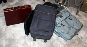 Luggage Assortment, Including Samsonite Garment Bag, American Tourister Garment Bag, Rolling Carry-On, Briefcase And More