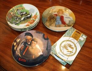 Collectible Decorative Plate Collection Including Southern Living Gallery Numbered Forest Plates Qty 4, Knowles Norman Rockwell Numbered Plate And More