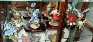 Collectible Ceramic Songbird Figurines Including Knowles, Lenox, And Lefton China, Qty 6 Pieces