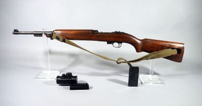 US M1 Carbine Inland Division .30 M1 Cal Rifle SN# 6672286, With Mag, Tasco Red Dot Sight And Mount, Walnut Stock, Canvas Sling