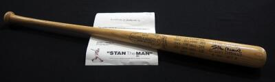 Stan Musial (HOF) Autographed H&B Louisville Slugger Baseball Bat With COA, Engraved With Batting Stats