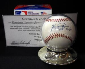 "Ferguson ""Fergie"" Jenkins (HOF) Autographed Baseball With COA, In Holder"